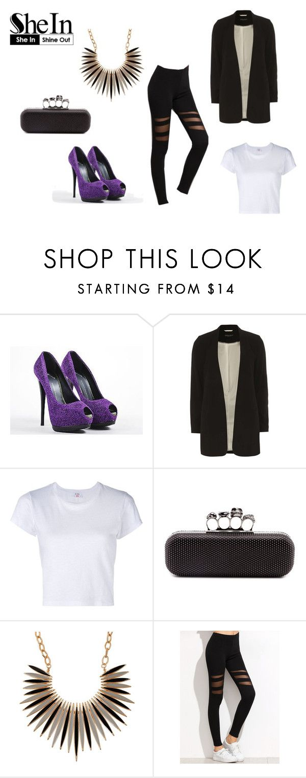 """""""SheIn"""" by realitybytes85 ❤ liked on Polyvore featuring Giuseppe Zanotti, Dorothy Perkins, RE/DONE and Alexander McQueen"""