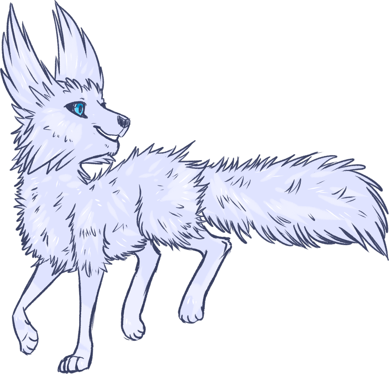 Little Colored Sketch Of A Vulptex Crystal Critter From Star Wars Star Wars Drawings