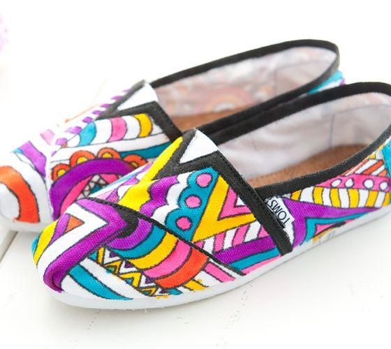 Toms Design toms with design 2012 textile design students paint original