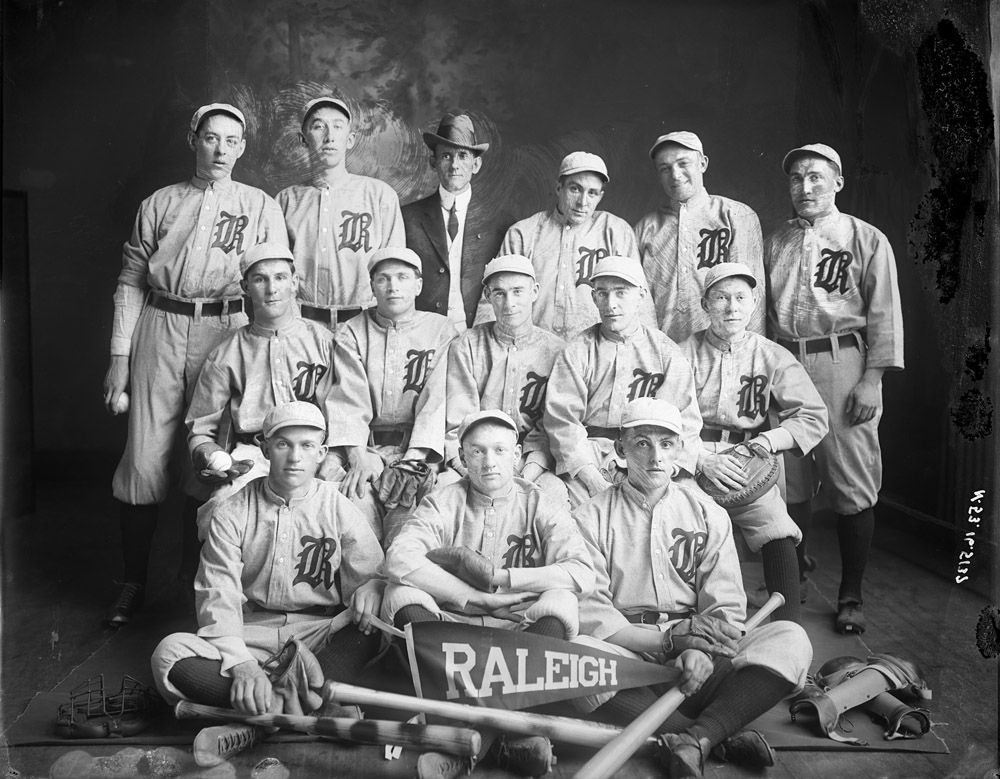 Apr. 7 Raleigh Baseball Team of the early 1900s