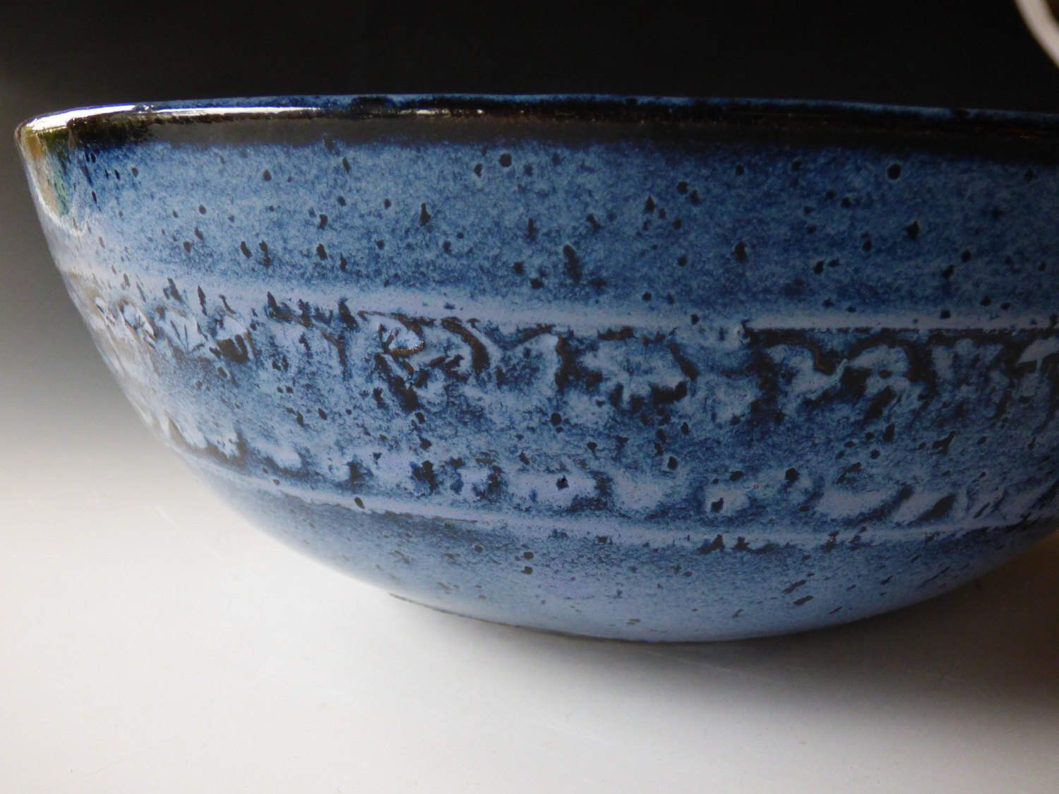 banded blue bowl by MollyDuttonPottery on Etsy https://www.etsy.com/listing/491462574/banded-blue-bowl