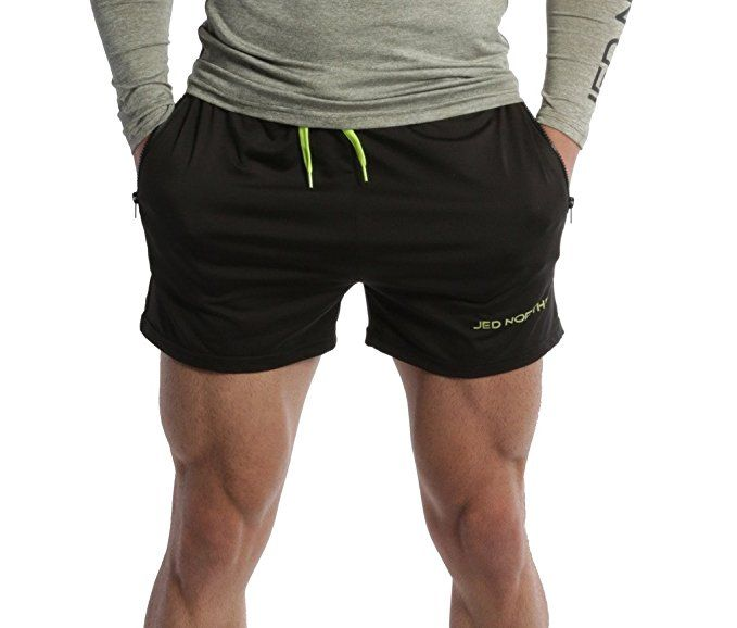 372498887 Amazon.com: Jed North Men's Fitted Shorts Bodybuilding Workout Gym Running  Tight Lifting Shorts: Clothing