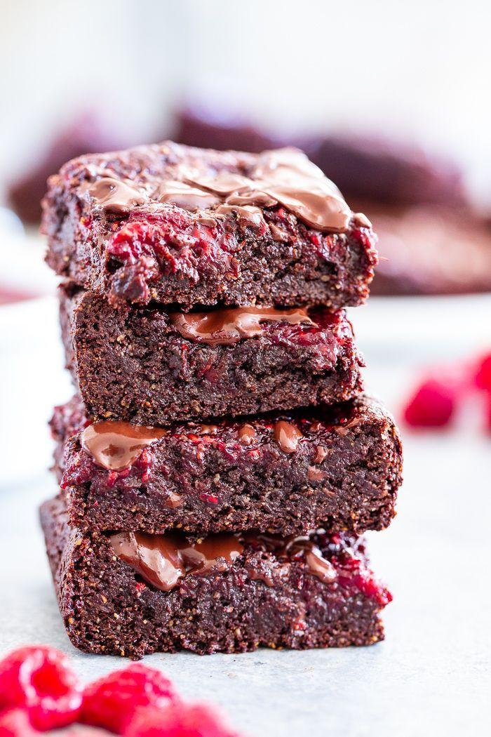 Fudgy Raspberry Brownies (Paleo, Vegan)