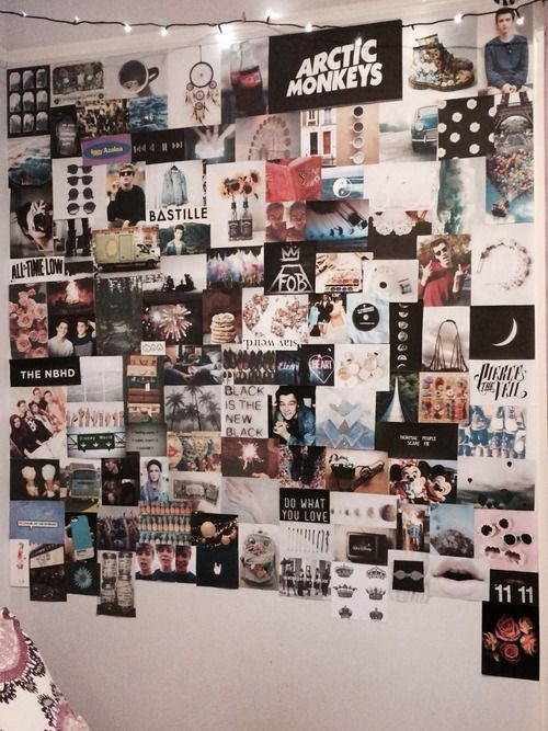 Tumblr Rooms Wallcollage Tumblr Rooms Picture Wall Bedroom Photo Walls Bedroom Wall Decor Bedroom
