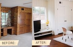 I Notice A Lot Of The Homes We Have Been Looking At Wood Paneling Everywhere Glad There Is Something Can Do To Update Room Without Pulling It
