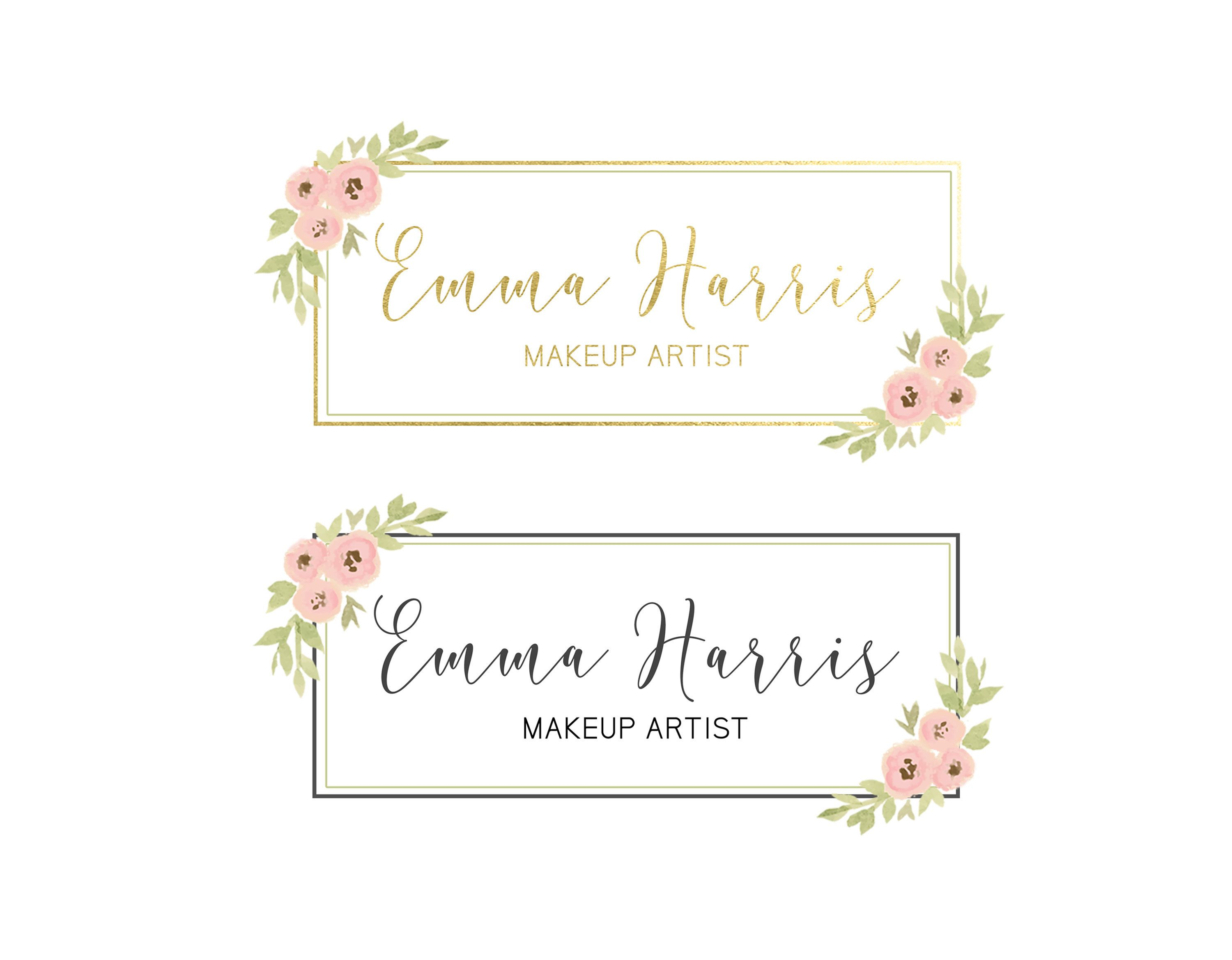 Watercolor Floral Banner Set Blog Header Set With Floral