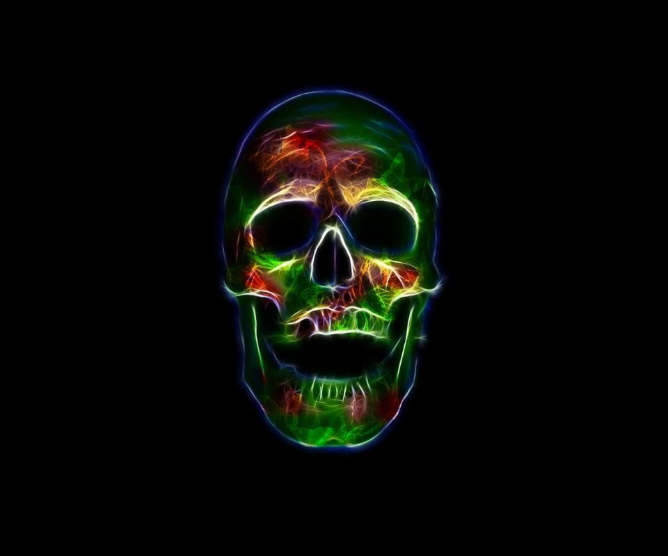 Incredible Neon Skull Wallpaper