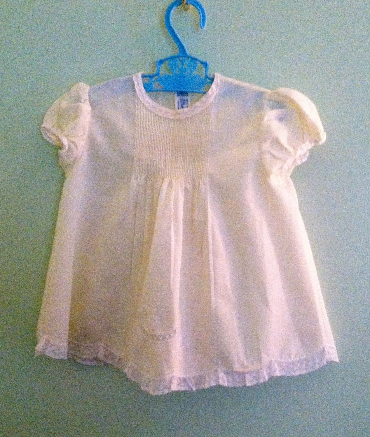 Vintage Baby Dress Feltman Brothers Mid Century Cotton Blend