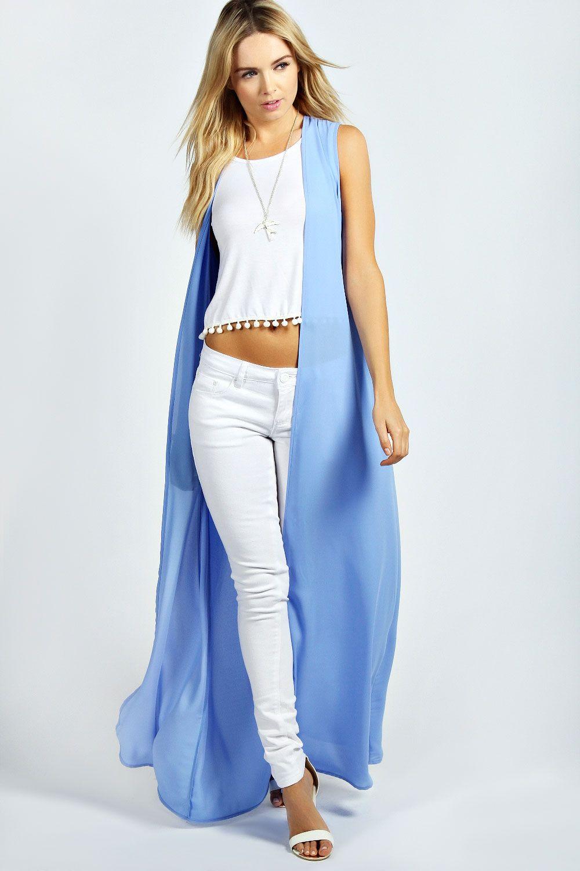Alissah Sleeveless Maxi Kimono | Spring and Summer Fashion ...