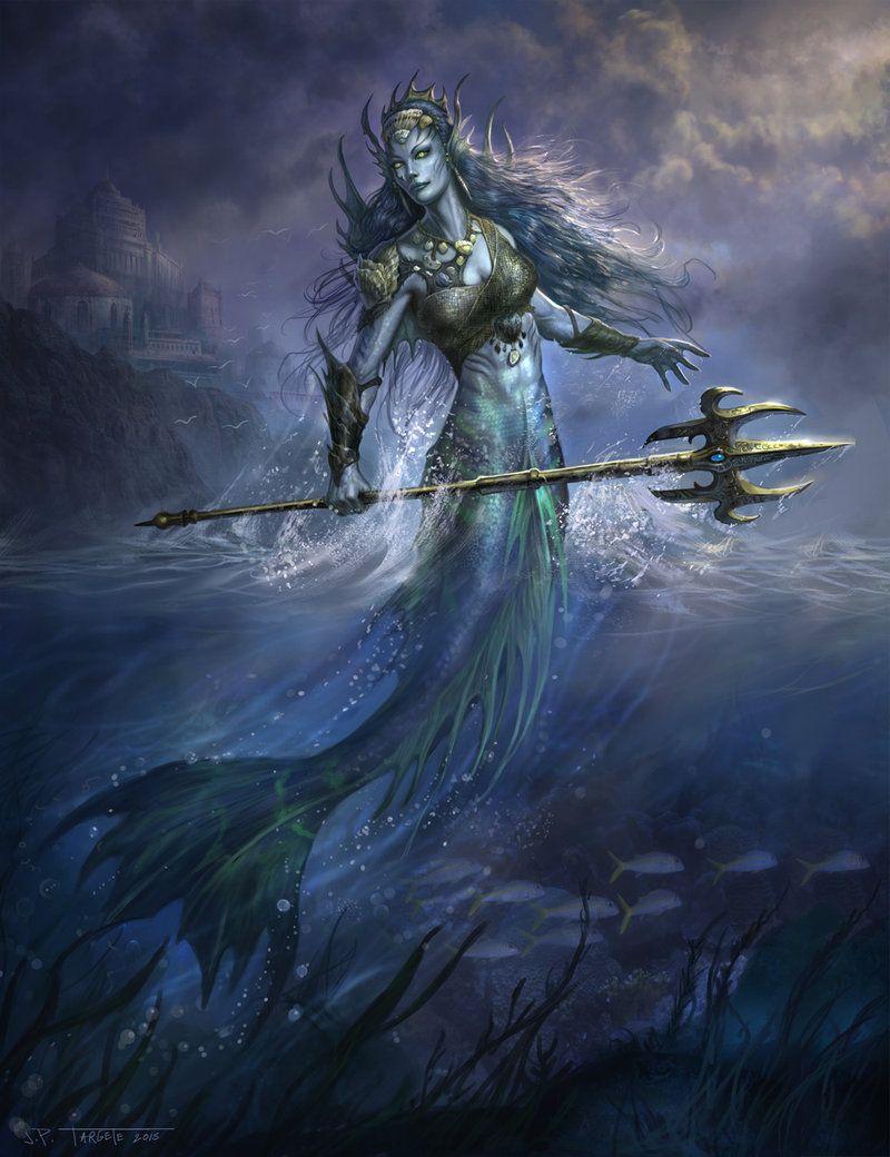 Merefolk by TARGETE Pantheon MMO female mermaid trident