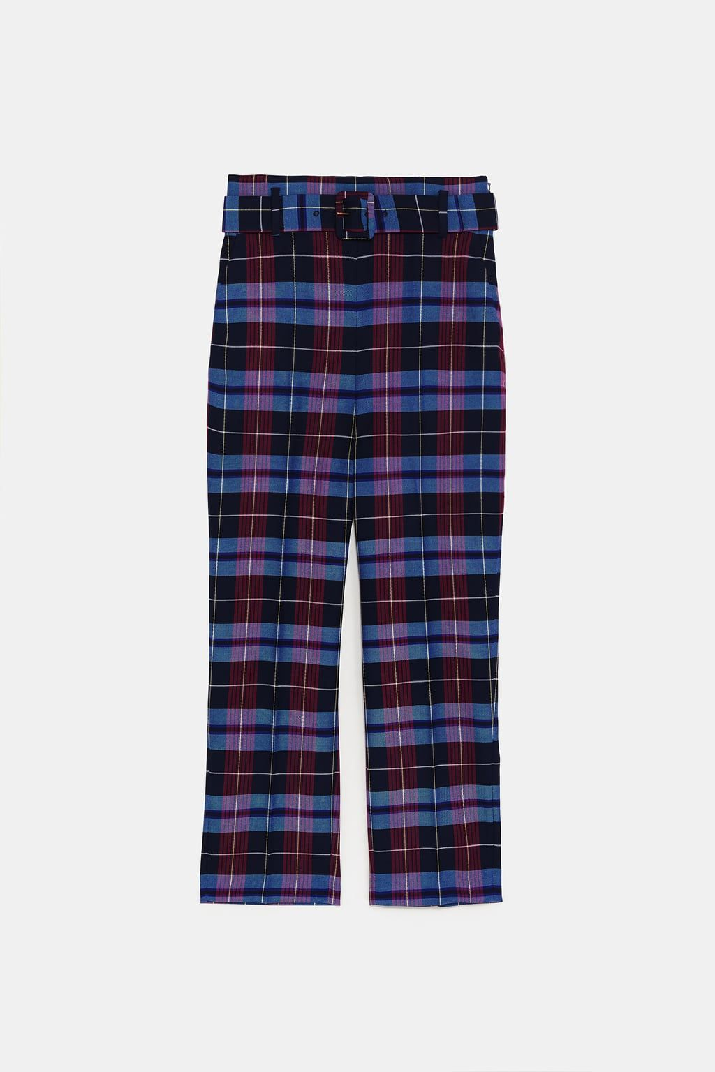 1f8fbba9 Image 9 of CHECK TROUSERS WITH BELT from Zara | ZARA in 2019 | Plaid ...