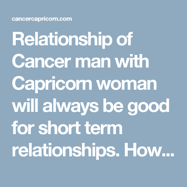 Cancer hookup a capricorn male gemini
