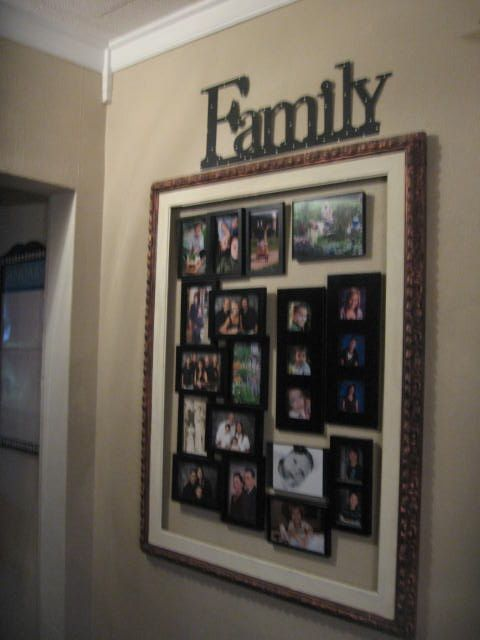 Framed Pictures Of Family Inside Large Empty Frame Do It