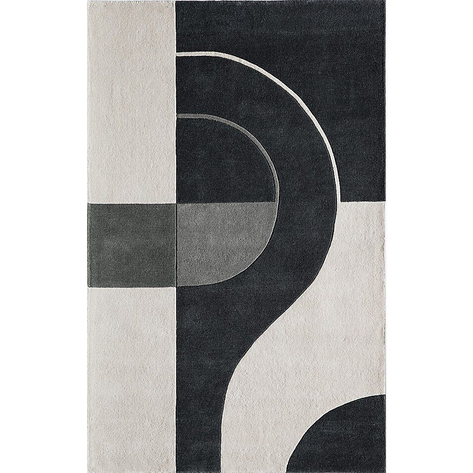 Momeni Delhi Rugs In Black Bed Bath Beyond In 2021 Tufted Rug Colorful Art Prints Black Area Rugs