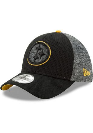 timeless design 8813b ff0ea New Era Pittsburgh Steelers Mens Black Fierce Fill Flex Hat. Find this Pin  and more on NFL ...