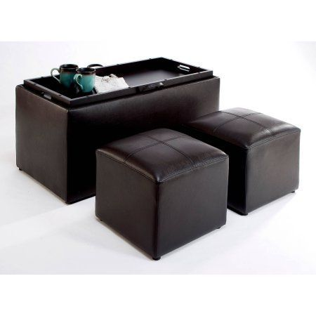 Groovy Convenience Concepts Designs4Comfort Faux Leather Storage Beatyapartments Chair Design Images Beatyapartmentscom