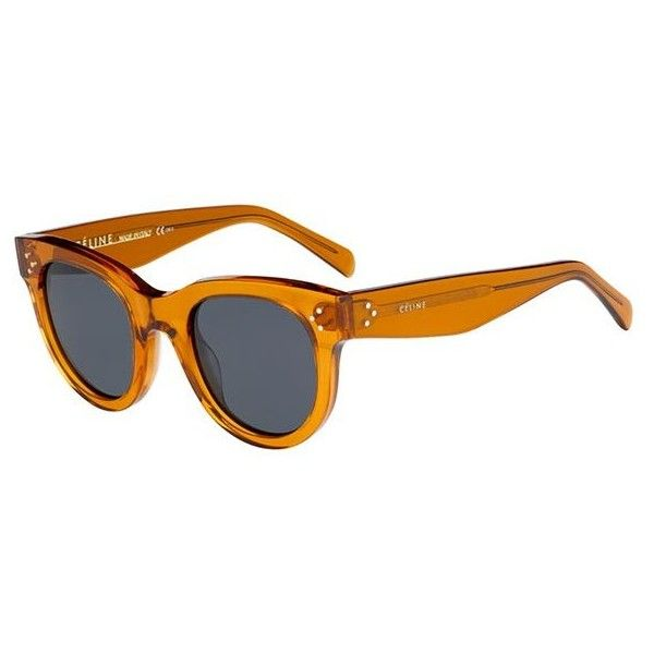orange cat eye sunglasses - Yellow & Orange Celine 440w6