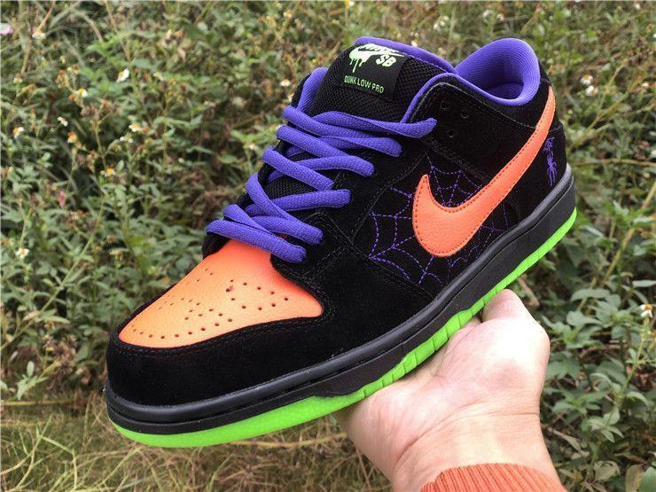 Nike Sb Dunk Low Night Of Mischief Black Total Orange Nike Sb Dunks Nike Sb Nike