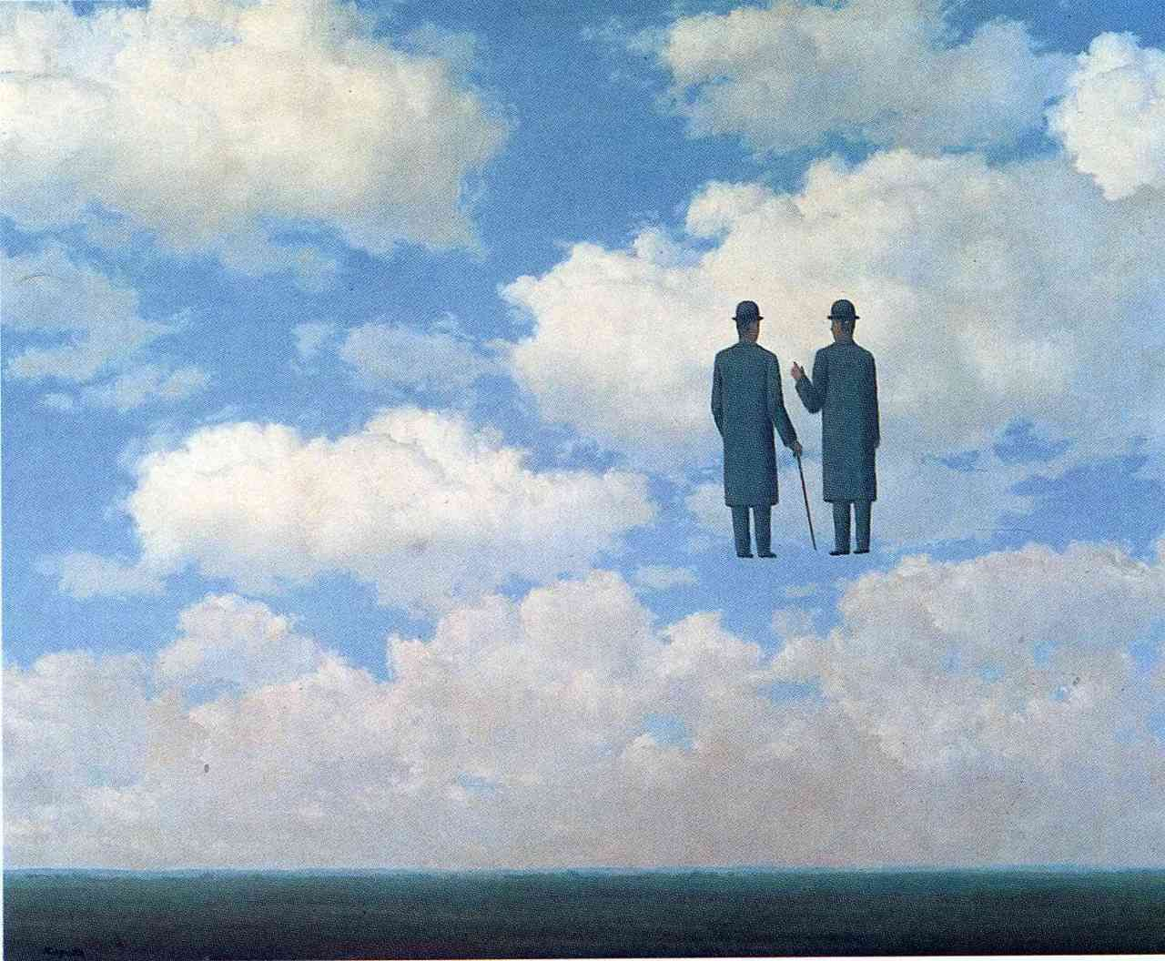 Landschaftsmalerei surrealismus  Rene Magritte - The infinite recognition | Art | Pinterest