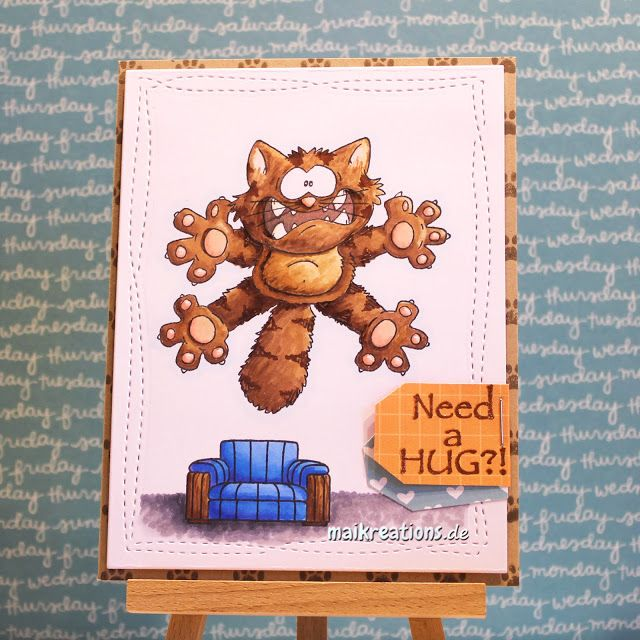 maikreations: Need a Hug? Colouring fur with Copics & creating a scene