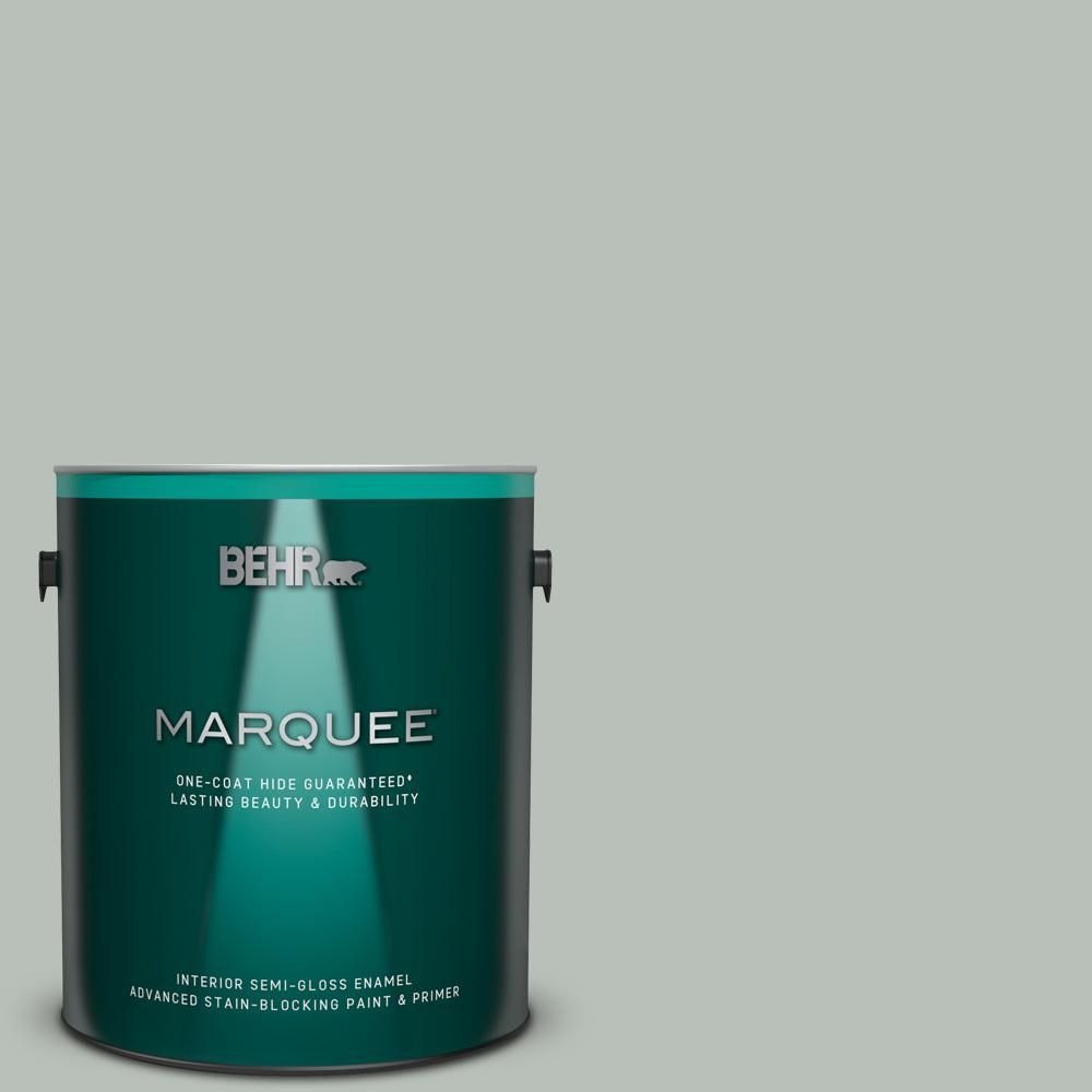 Behr Marquee 1 Gal T16 11 Celadon Semi Gloss Enamel Interior Paint And Primer In One Behr Marquee Interior Paint Behr