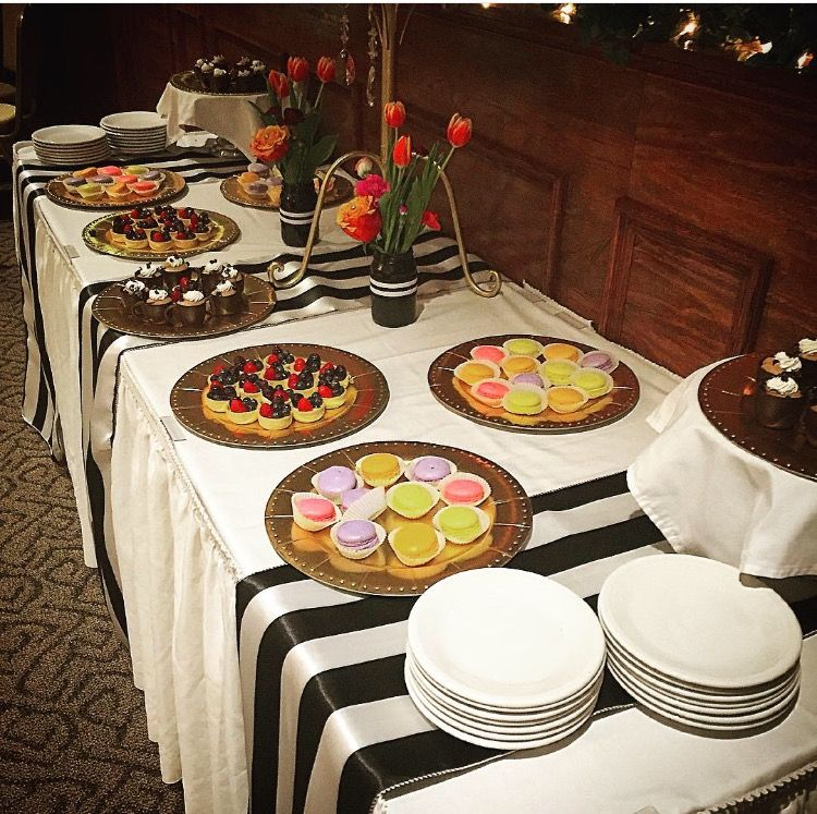 Dessert Table For The Friday Night Happy Hour Themed Shower In - The table happy hour