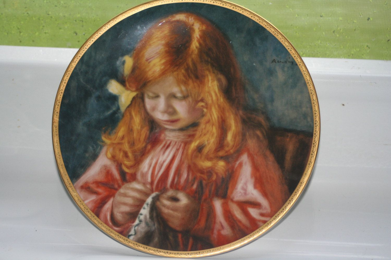 child of renoir collector plate collectible vintage home decor child of renoir collector plate collectible vintage home decor castawayacres by castawayacres on
