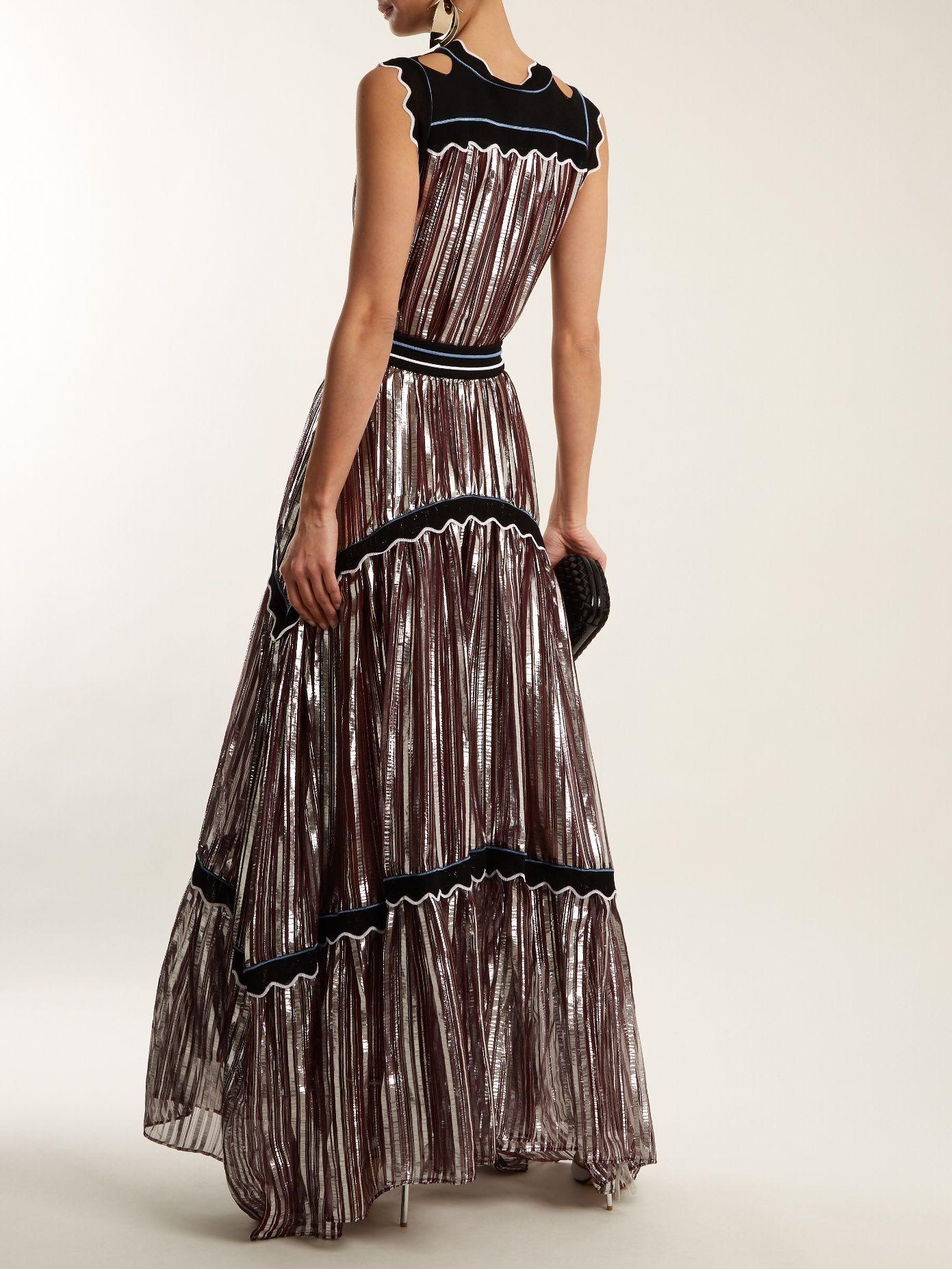 Stripedjacquard crepe gown peter pilotto fashion lust
