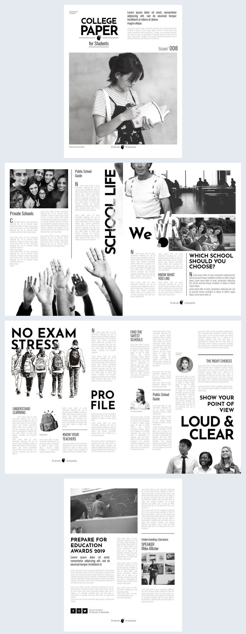 This college newspaper template is the perfect fit for any college looking to keep their students better informed.