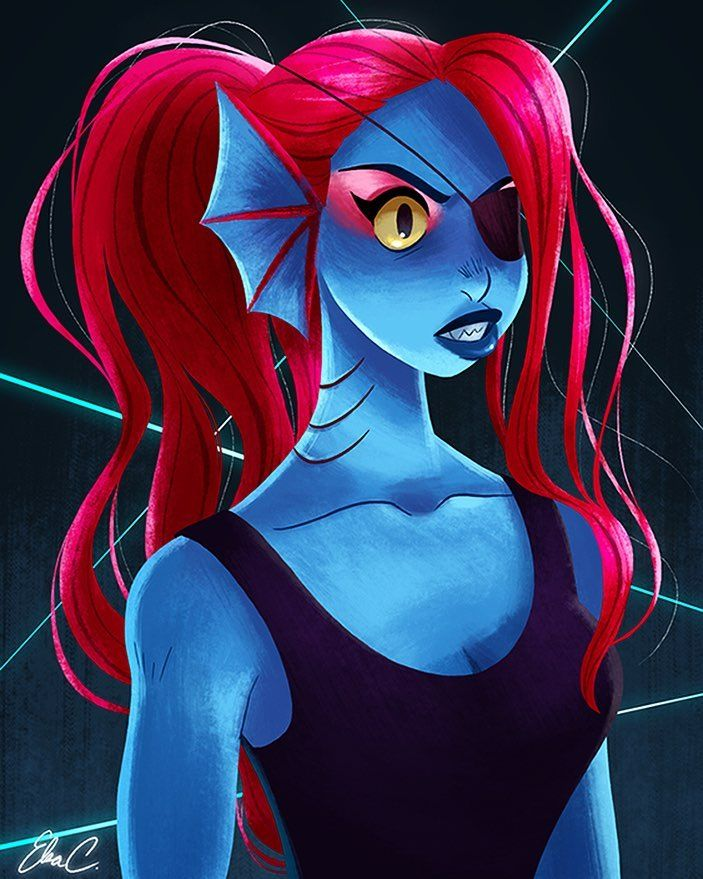 Let's make some spaghetti  #Undyne #Undertale #MyVideogameGirlfriend by elsasketch