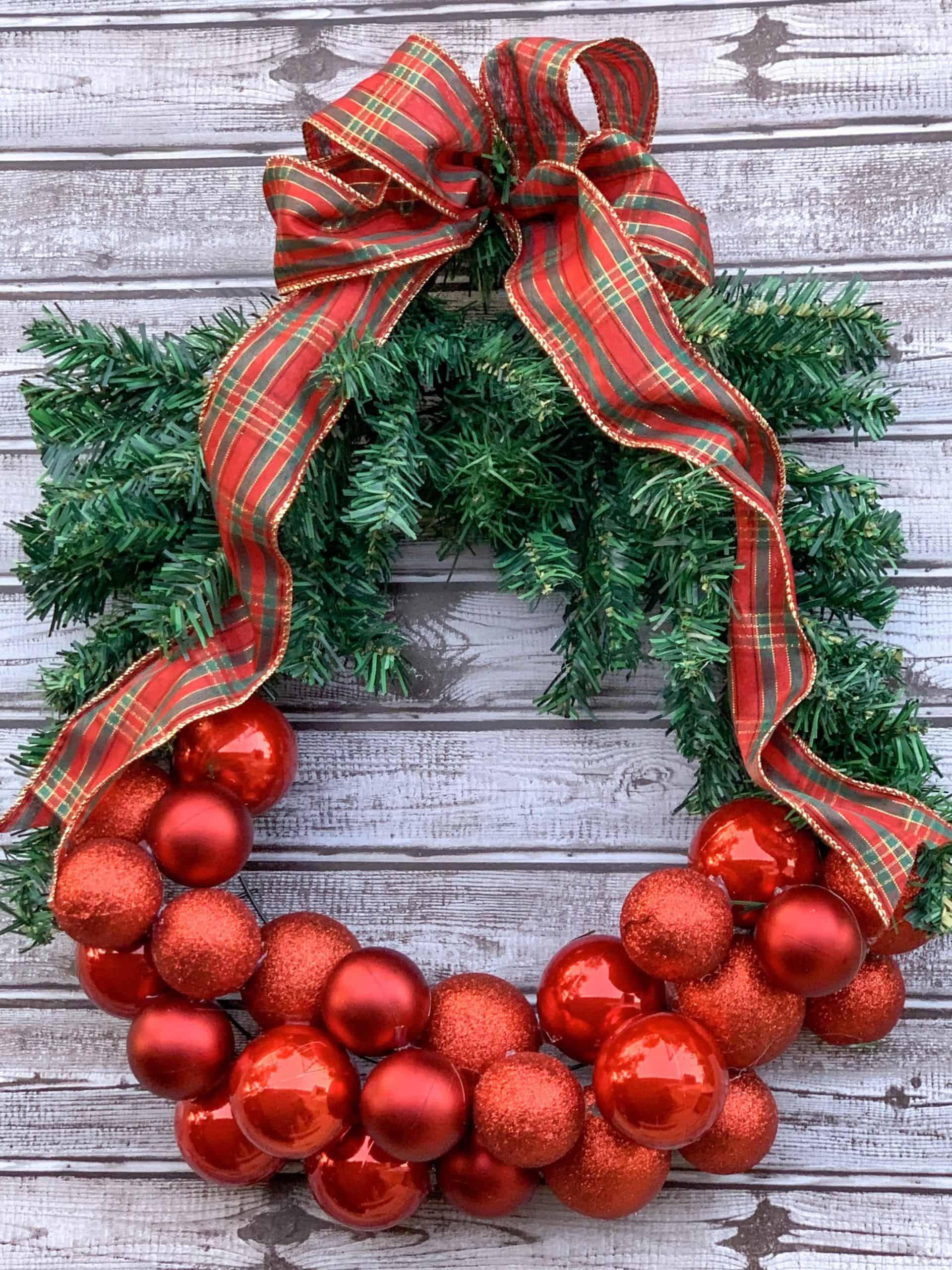 Dollar Tree DIY Christmas Wreath Christmas wreaths
