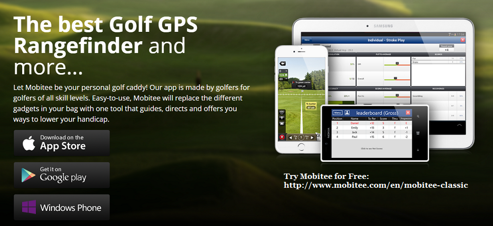 Try Mobitee Classic for Free (1st 5 holes, any golf course