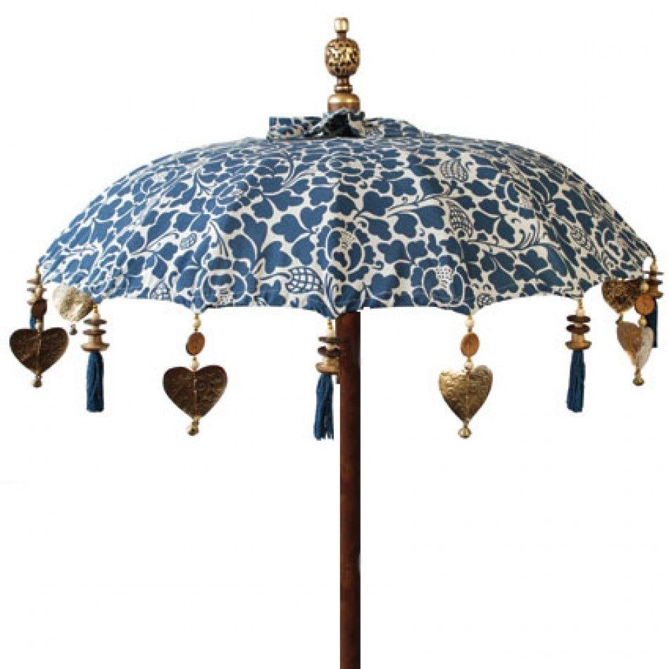 bleu vintage /& Blanc Marigold Conception Stand Parapluie