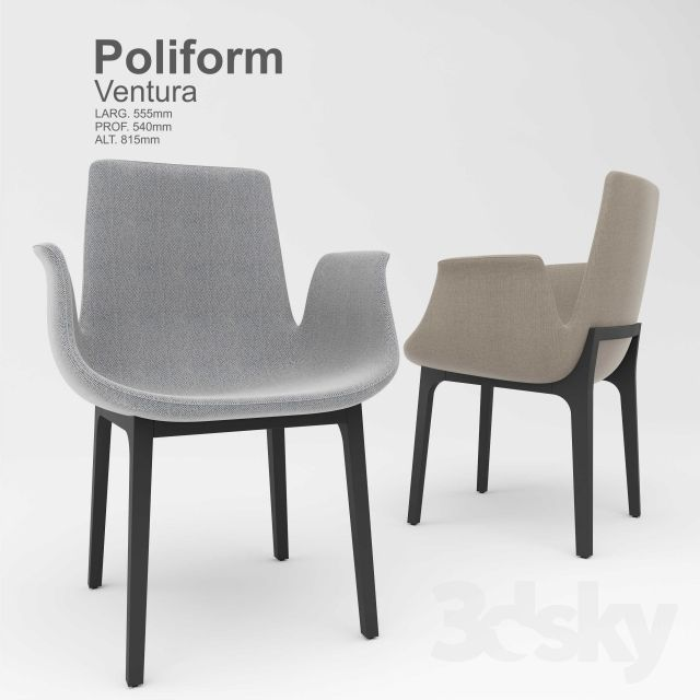 Poliform ventura in chair home office