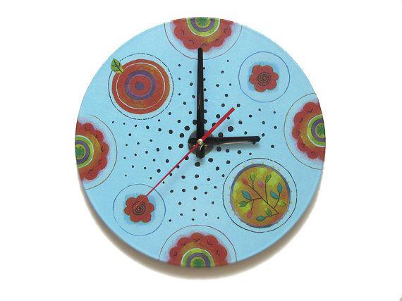 Wand Uhr bezaubernde Polka Dot exklusives Geschenk von OlgaArtShop
