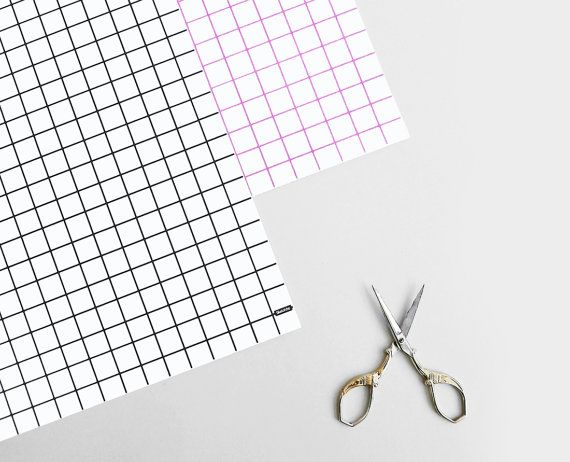 Grid Gift Wrap  Wrapping Paper  Black Pink Graph  Diy  Crafts