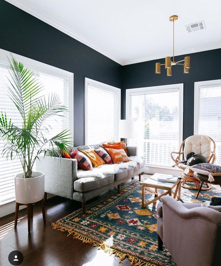 14 Ideas For Adding Pops Of Color Spotted On Instagram Interior Living Decor Home #royal #blue #rugs #for #living #room