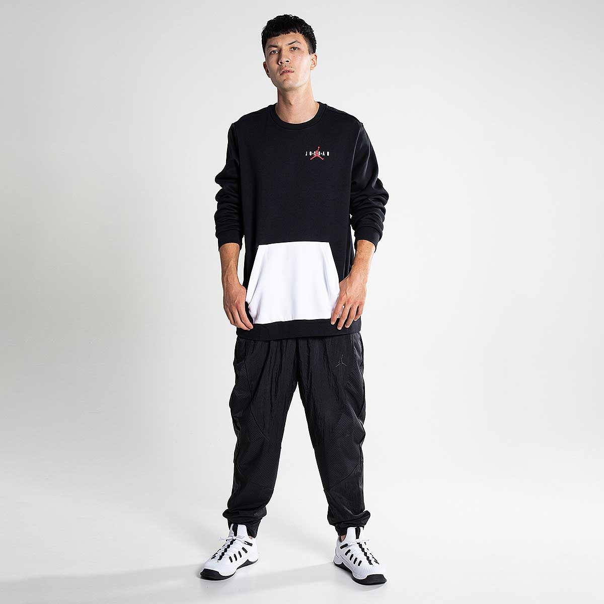 a544f6f3f45 jordan JUMPMAN AIR FLEECE CREW BLACK/WHITE/GYM RED | Jordan swag ...