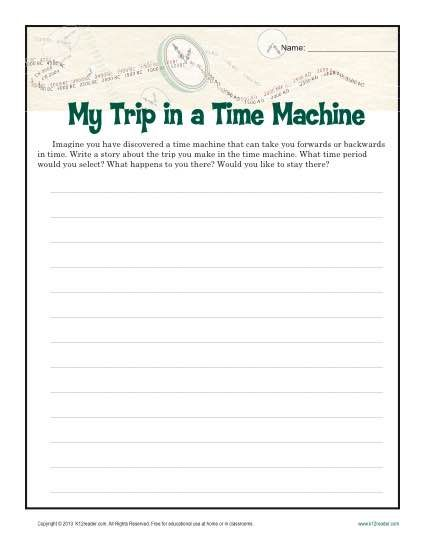 time machine writing activity