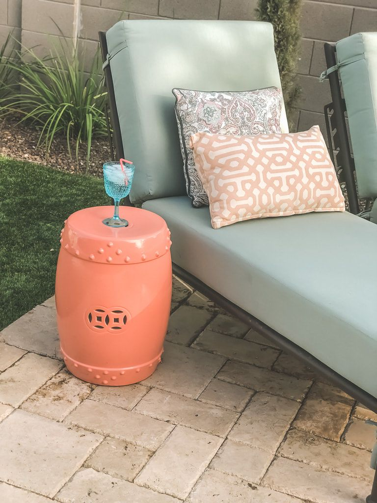 Awesome Coral Garden Stool Outdoor Living In 2019 Backyard Beatyapartments Chair Design Images Beatyapartmentscom