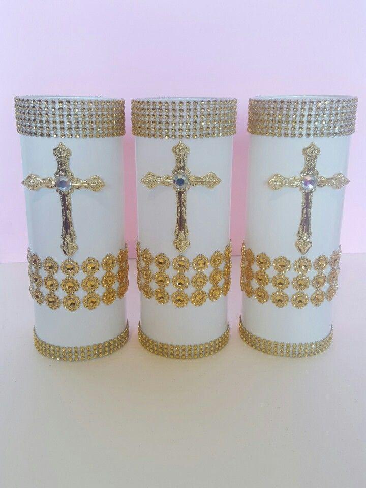 Christening Centerpiecesbaptism Centerpiecesparty Decor Cross