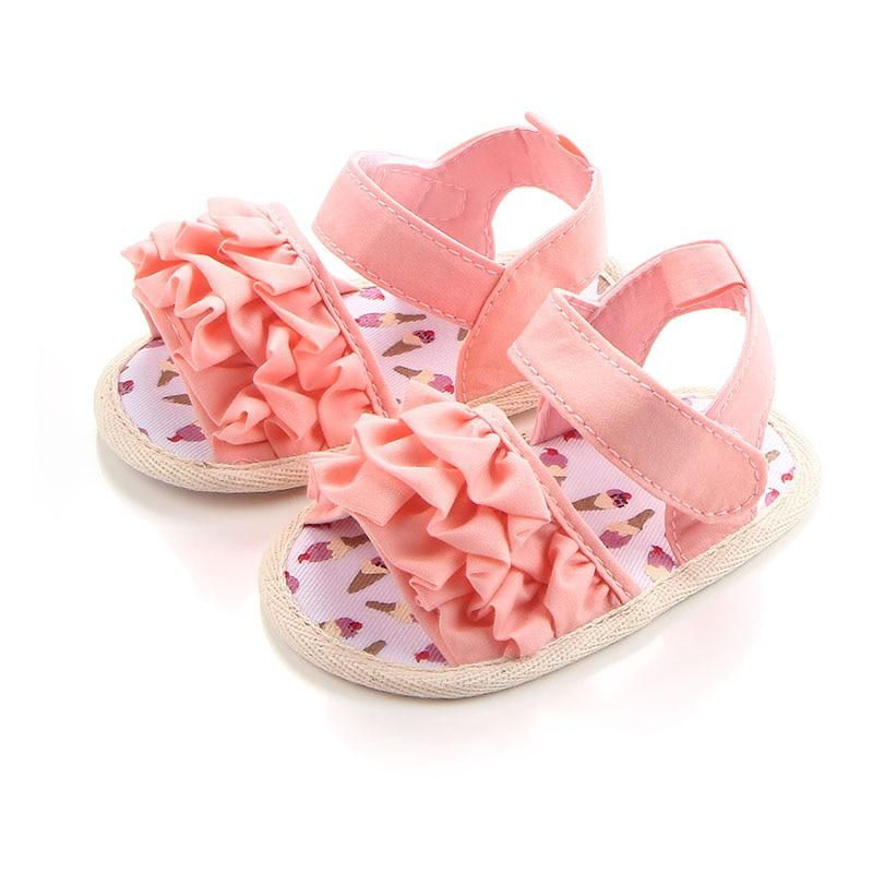 Open Toe Baby Girl Shoes Infant Priness Walking Shoes Bow Newborn Soft Sole Shoe