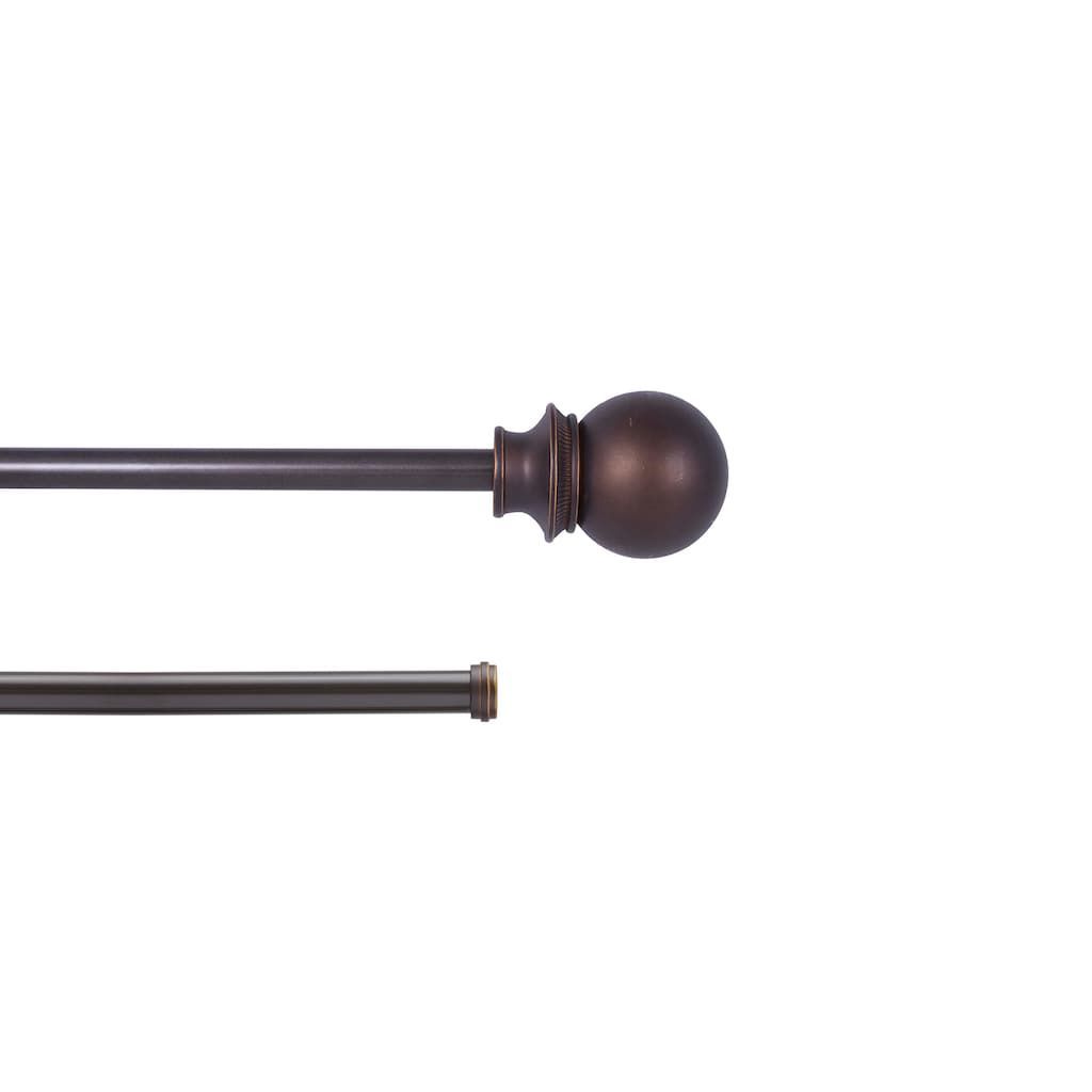 Kenney Fast Fit Birkin Easy Install Double Curtain Rod Brown 42