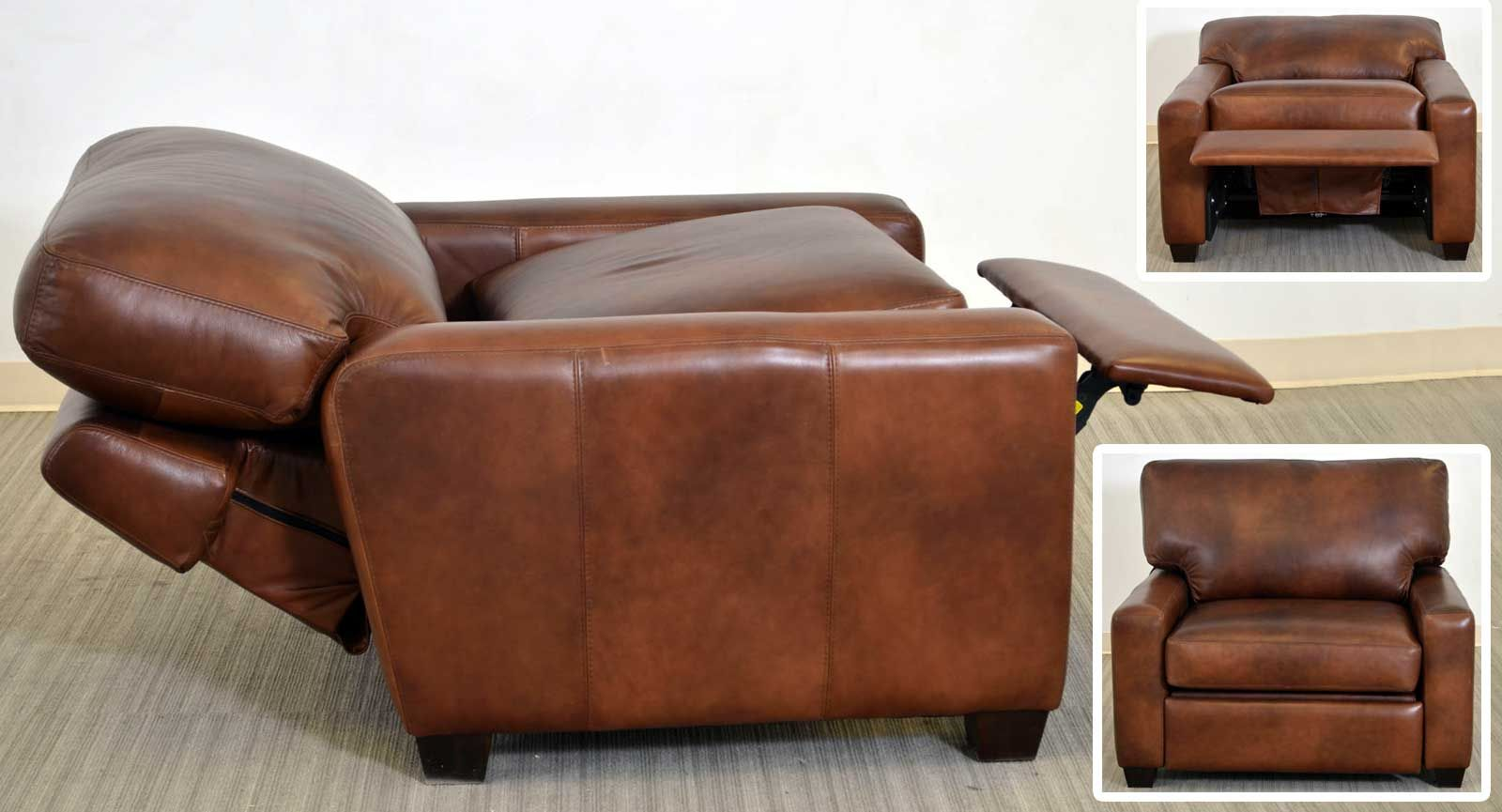 Maxwell Chair And A Half Recliner The Leather Sofa Company A Modern Transitional Style With Clean Leather Furniture Cheap Modern Furniture Chair And A Half
