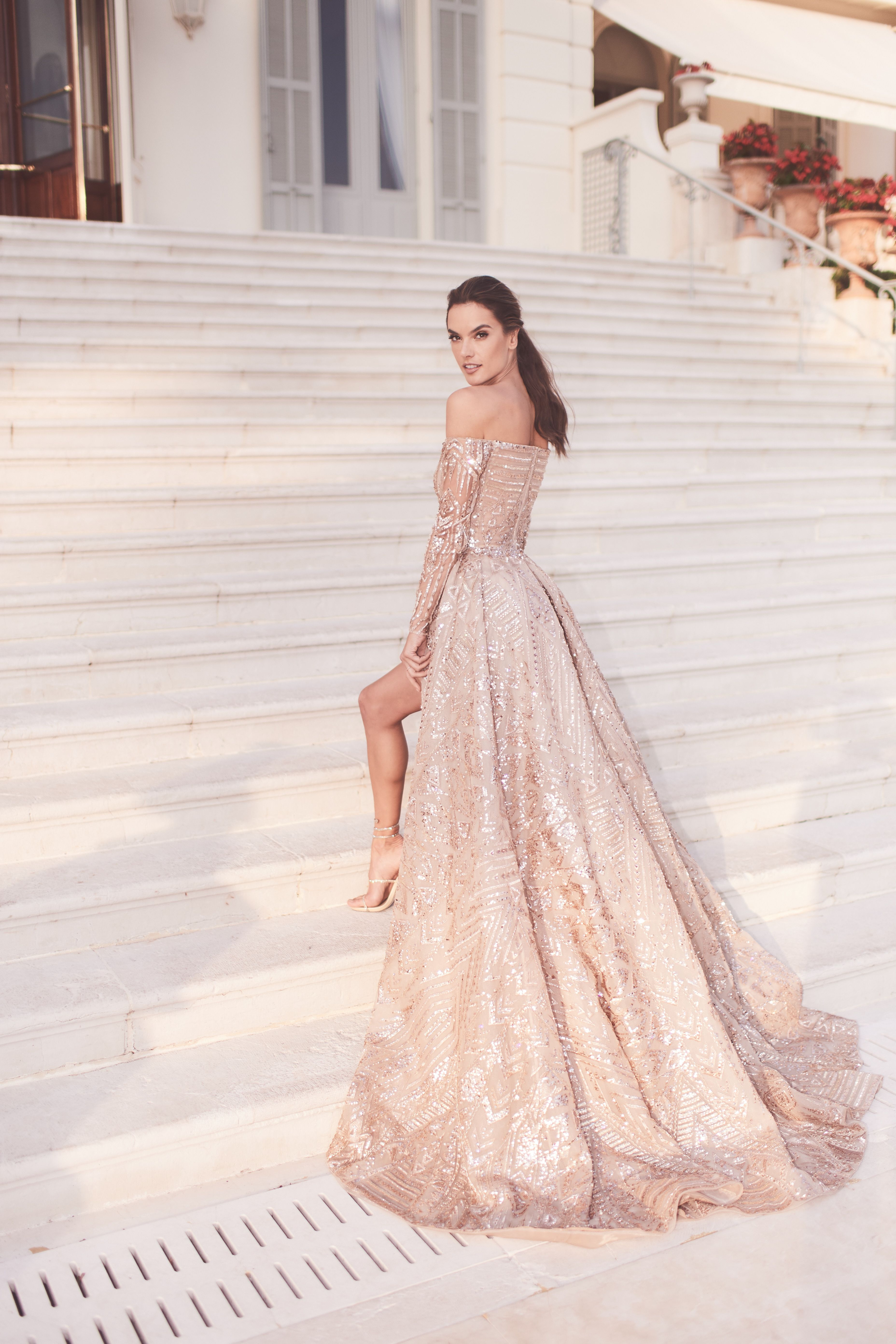 846ee487ad Alessandra Ambrosio in Zuhair Murad at the 71st Cannes Film Festival 2018   alessandraambrosio  zuhairmurad