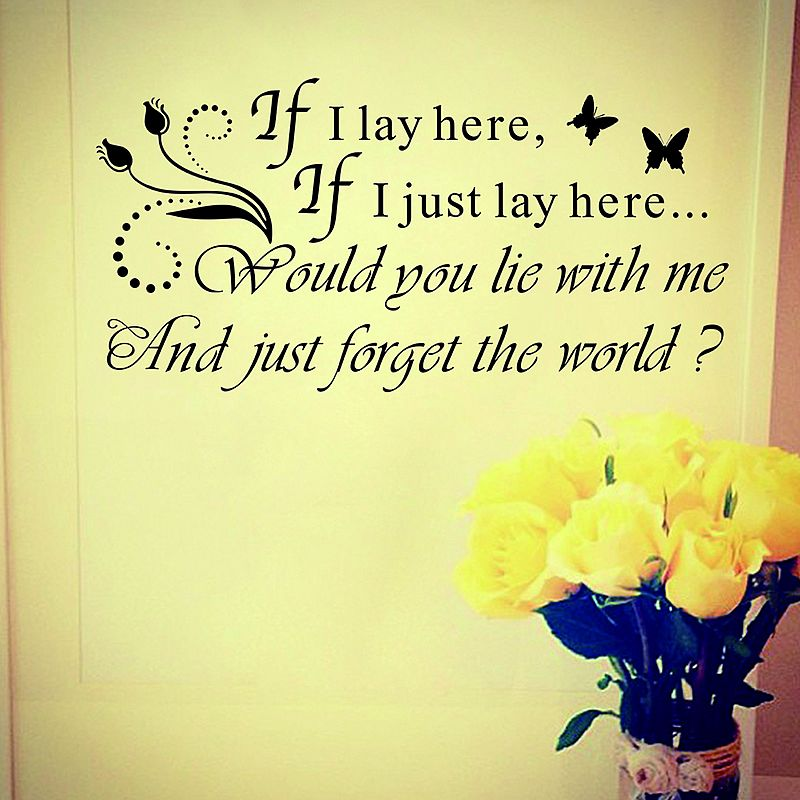 If I lay hare saying wall decal sticker | Wall decal sticker, Wall ...