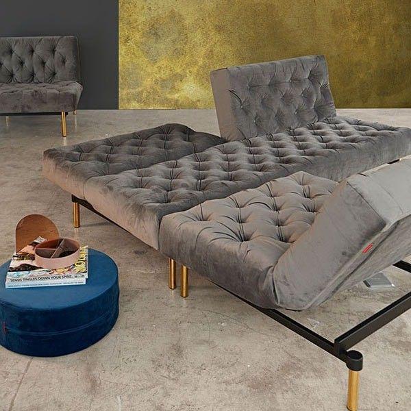 sofá cama terciopelo Oldschool   Tiendas On   Muebles retro pop ...