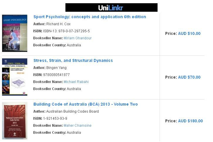 Unilinkr is a social networking website where you can buy used college/university textbooks at best prices.