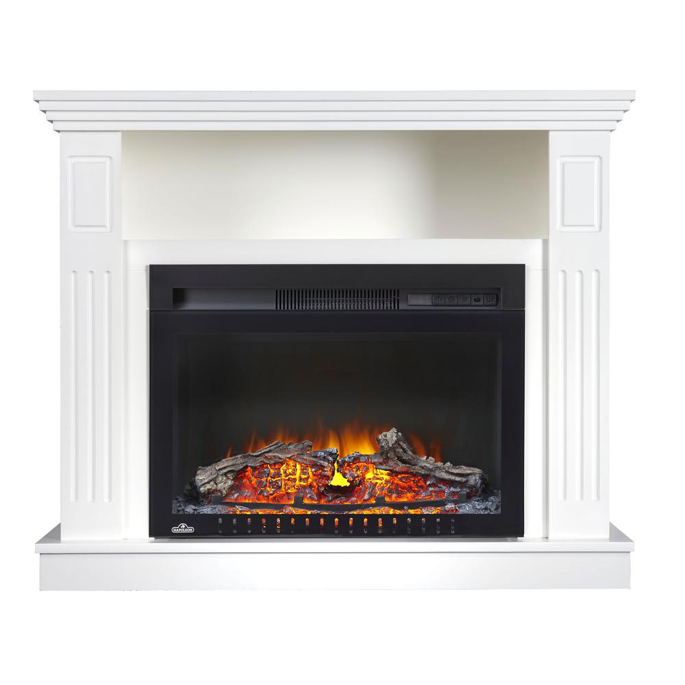 31 In Freestanding Electric Fireplace Tv Stand With Entertainment Center In White Nefp24 2217w Th Fireplace Tv Stand Electric Fireplace Tv Stand Fireplace Tv