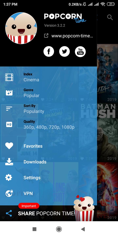 Find latest cinema on popcorn time app. Popcorn times